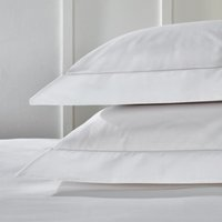 Egyptian Cotton Row Cord Oxford Pillowcase with Border - Single, White, Super King