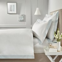 Camborne Duvet Cover, White Blue, King