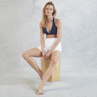 Organic Cotton Denim Shorts, Ecru, 10