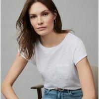 Organic Cotton Jersey Crew-Neck T-Shirt, White, 12