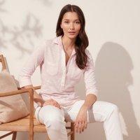 Organic Cotton Rib-Pocket Jersey Shirt , Pale Pink, 4
