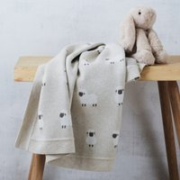 Organic Cotton Sheep Blanket, Natural, One Size