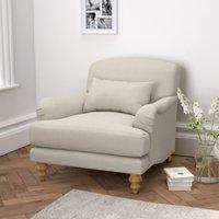 Petersham Armchair Cotton, Silver Cotton, One Size