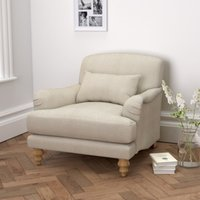 Petersham Armchair Linen Union, Natural Linen Union, One Size