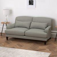 Petersham 3 Seater Sofa Cotton, Grey Cotton, One Size