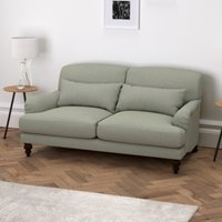Petersham 2 Seater Sofa Wool, Light Grey Wool, One Size