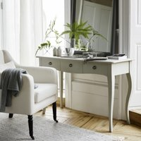 Provence Console Table, Pale Grey, One Size