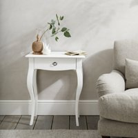 Provence Side Table , White, One Size