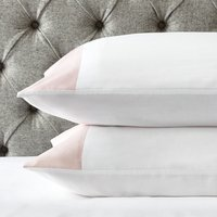 Portobello Classic Pillowcase - Single, Petal Pink/White, Standard