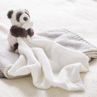 Panda Comforter, Grey White, One Size