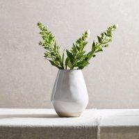 Parham Large Ceramic Vase, White, One Size