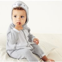 Penguin Knitted Romper, Grey, 3-6mths