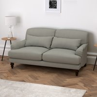 Petersham 2 Seater Sofa Cotton, Grey Cotton, One Size