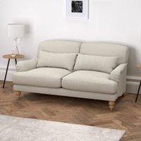 Petersham 3 Seater Sofa Cotton, Silver Cotton, One Size