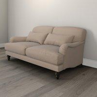Petersham 3 Seater Soft Velvet Sofa, Stone Velvet, One Size