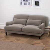 Petersham 3 Seater Soft Velvet Sofa, Silver Grey Velvet, One Size