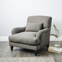 Petersham Armchair Cotton, Grey Cotton, One Size