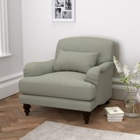 Petersham Armchair Wool, Light Grey Wool, One Size