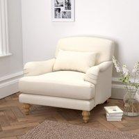 image-Petersham Cotton Armchair, Pearl Cotton, One Size