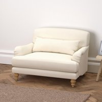 Petersham Cotton Snuggler Natural Oak Leg, Pearl Cotton, One Size