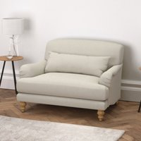 Petersham Cotton Snuggler Natural Oak Leg, Silver Cotton, One Size