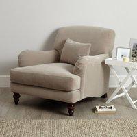Petersham Velvet Armchair, Stone Velvet, One Size