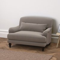 Petersham Velvet Snuggler, Silver Grey Velvet, One Size