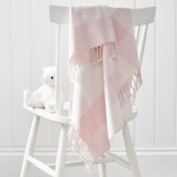 Pink Gingham Check Baby Blanket, Pink, One Size