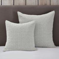 Portland Cushion Cover, White Blue, Medium Square