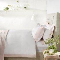 Portobello Duvet Cover, Petal Pink/White, Single