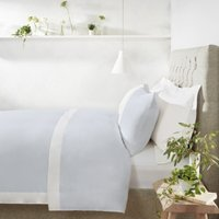 Portobello Duvet Cover, White Blue, Single