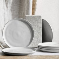 Portobello Grey Dinner Plate – Set Of 6, Grey, One Size