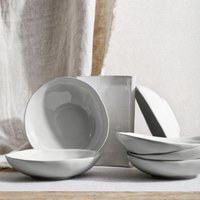 Portobello Grey Pasta Bowl – Set Of 6, Grey, One Size