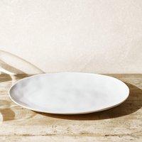 Portobello Large Serving Platter, White, One Size