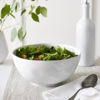 Portobello Salad Bowl , White, One Size