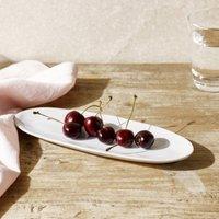 Portobello Small Serving Platter, White, One Size