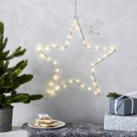 Pre-Lit Hanging Star – 40 bulbs, Clear, One Size