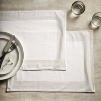 Printed Stripe Placemats – Set of 2, White Natural, One Size