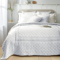 Provence Bedspread, White Blue, King/Super King