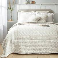 Provence Bedspread, White Natural, Single