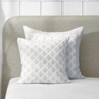 Provence Cushion Cover, White Blue, Large Square