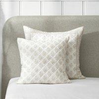 Provence Cushion Cover, White Natural, Large Square