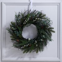 Pussywillow & Fern Christmas Wreath, Natural, One Size