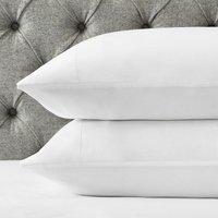 Portobello Classic Pillowcase - Single, White, Super King