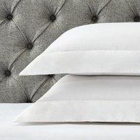 Portobello Oxford Pillowcase with Border - Single, White, Standard