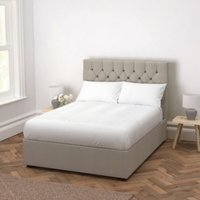 Richmond Wool Bed - Headboard Height 130cm, Light Grey Wool, Double