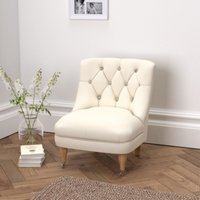 Richmond Cotton Tub Chair , Pearl Cotton, One Size