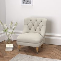 Richmond Tub Chair, Silver Cotton, One Size