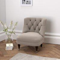 Richmond Velvet Tub Chair , Stone Velvet, One Size