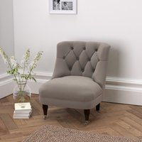 Richmond Velvet Tub Chair , Silver Grey Velvet, One Size
